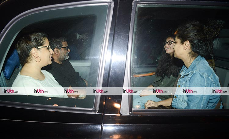 R. Balki and Gauri Shinde attend the special screening of PadMan