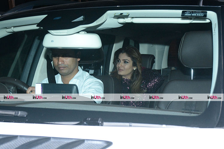 Raveena Tandon at Shah Rukh Khan's house for Kaajal Anand's birthday