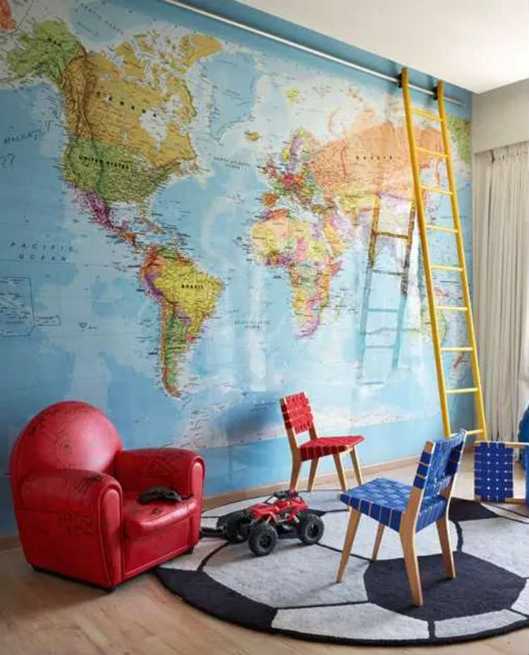 The room of Hrithik Roshan's son inspires creativity and wanderlust