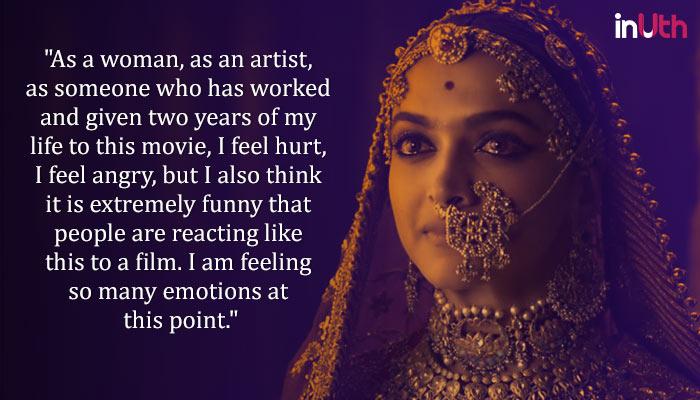 Deepika Padukone on Padmavati