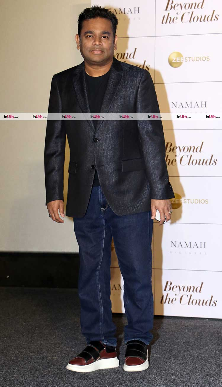 A.R. Rahman at the trailer launch of Beyond The Clouds