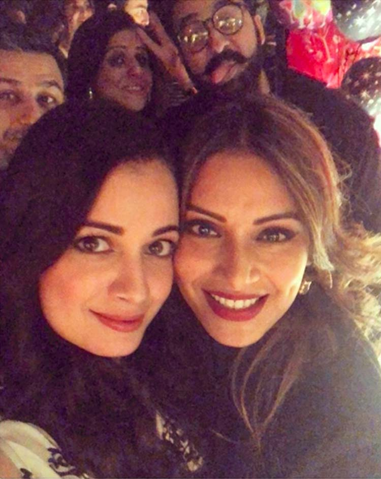 Bipasha Basu and Dia Mirza at the former's birthday celebrations