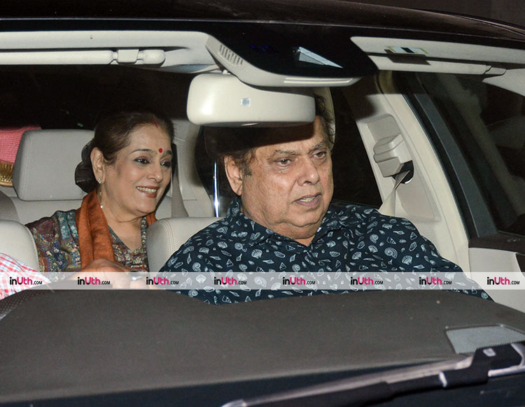 David Dhawan and Poonam Sinha at PadMan special screening on February 8
