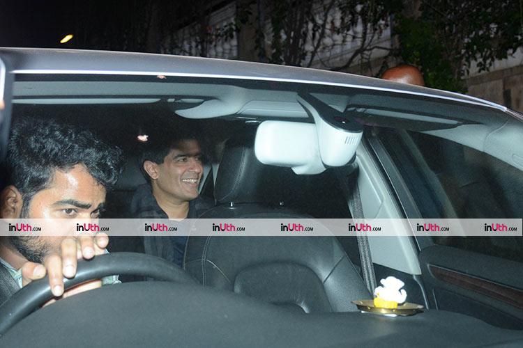 Manish Malhotra at Shah Rukh Khan's house for a party