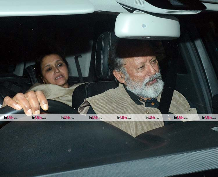Pankaj Kapoor and Supriya Pathak at Padmaavat screening