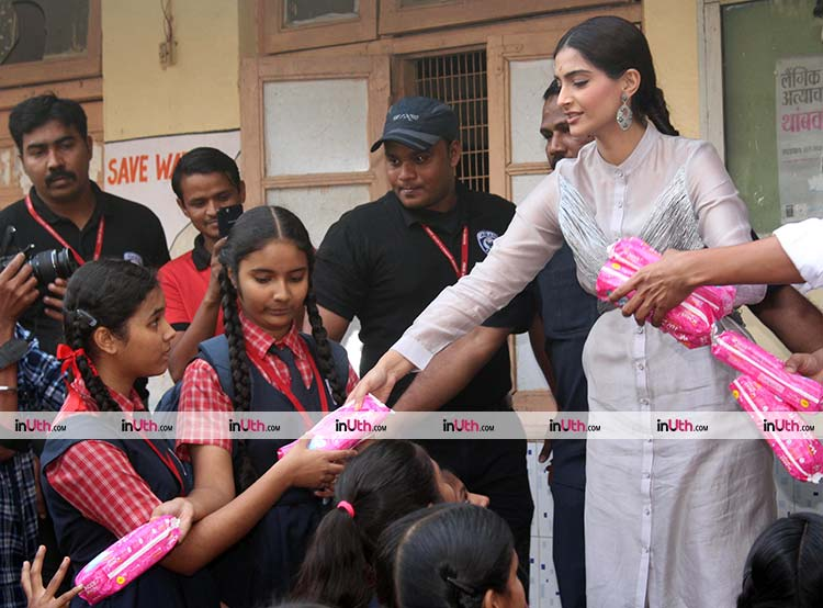 Sonam Kapoor promoting PadMan with full gusto