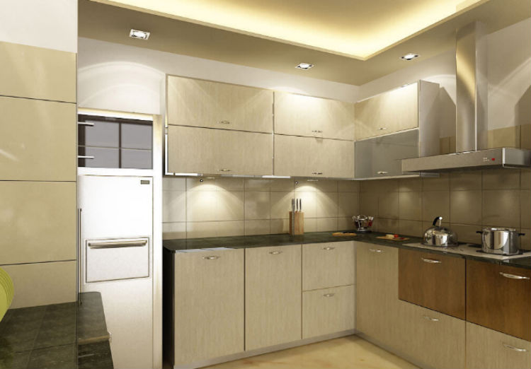 The kitchen of Abhishek Bachchan and Aishwarya Rai's new apartment