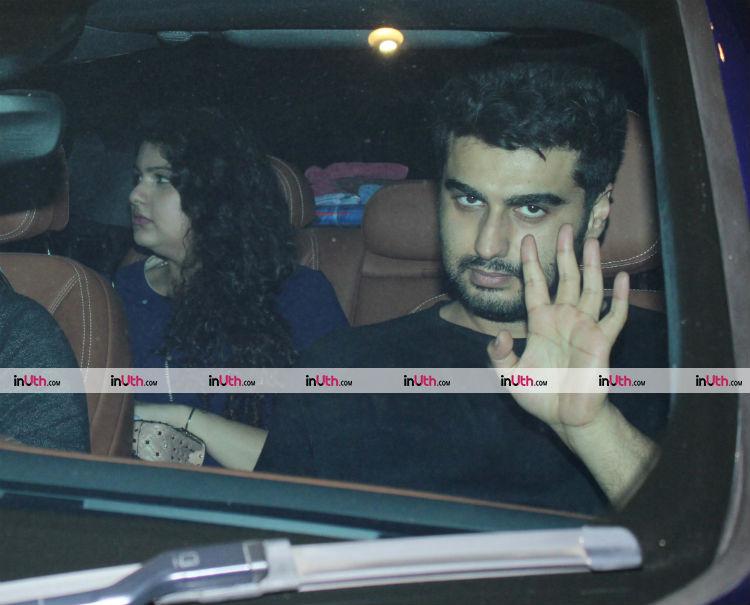Arjun and Anshula Kapoor at Farah Khan's birthday dinner