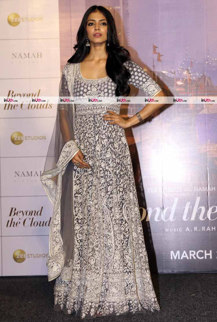 Malavika Mohanan at the trailer launch of Beyond The Clouds