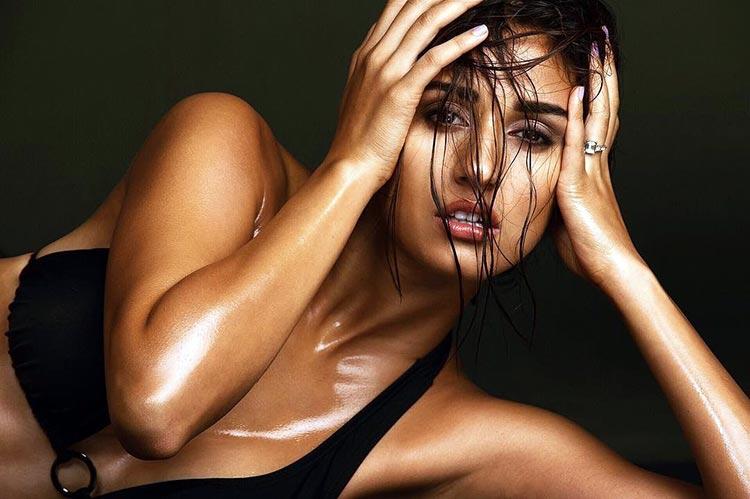 Disha Patani showing off her picture-perfect tan in a bikini