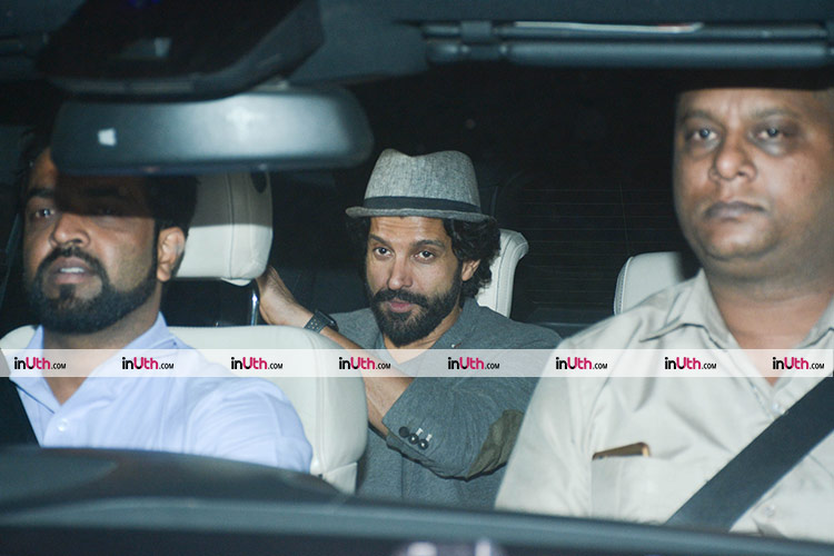 Farhan Akhtar at Shah Rukh Khan's house for Kaajal Anand's birthday