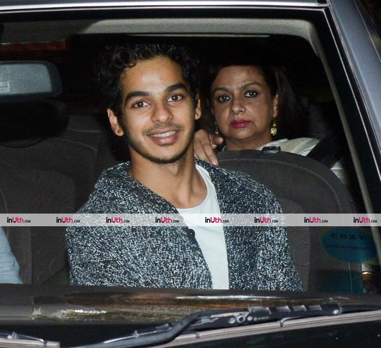 Neelima Azeem and Ishaan Khatter at the special screening of Padmaavat