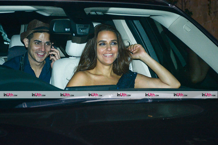 Neha Dhupia and Priyank Sharma at Shah Rukh Khan's house
