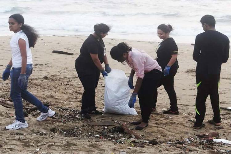 Beach cleanup drive