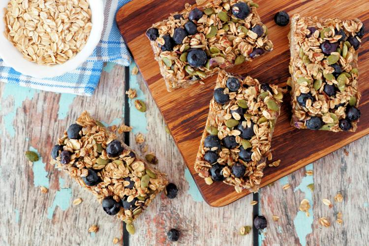 Blueberry Oats Bars