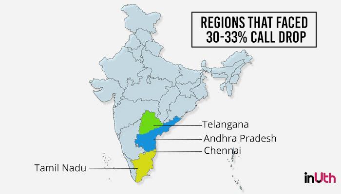 call drop, South India