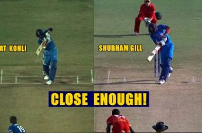 India U19's Shubham Gill stuns as he reproduces Virat Kohli's short-arm jab against Zimbabwe