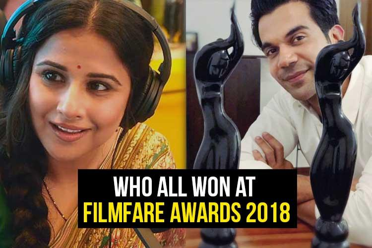 Who all won at the Filmfare Awards 2018