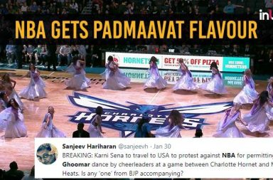 NBA cheerleaders ghoomar, Padmaavat ghoomar song, NBA cheerleaders 2018, Padmaavat controversy, Ghoomar controversy,