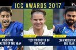ICC Awards 2017: Virat Kohli ODI Cricketer of the Year, Steven Smith, Rashid Khan, Yuzvendra Chahal on the winners listtoo