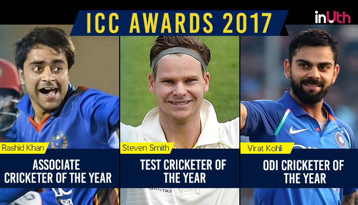 ICC Awards 2017: Virat Kohli ODI Cricketer of the Year, Steven Smith, Rashid Khan, Yuzvendra Chahal on the winners list too