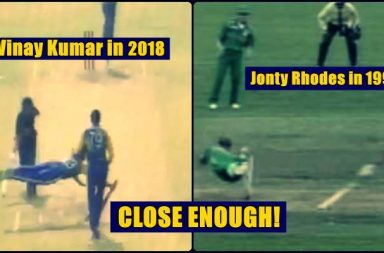 Jonty Rhodes replies to Vinay Kumar after watching his SUPERMAN act in Syed Mushtaq Ali T20