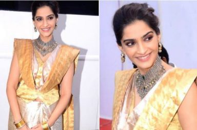 Sonam Kapoor during the promotions of her film Padman