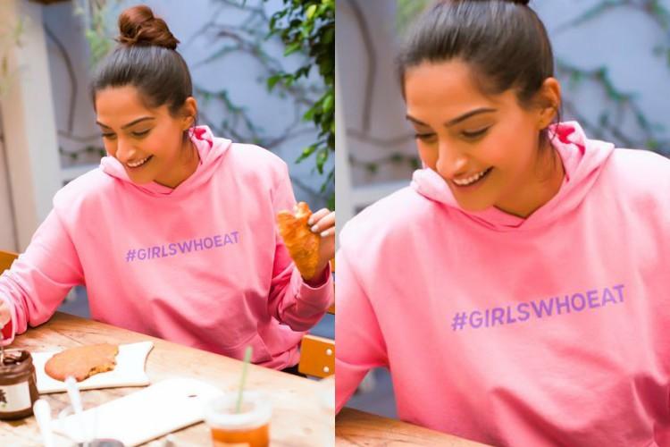 Sonam Kapoor in a Rheson sweatshirt