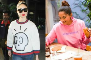 Sweatshirts fashion trend, Sonam Kapoor, Kareena Kapoor, Aishwarya Rai Bachchan
