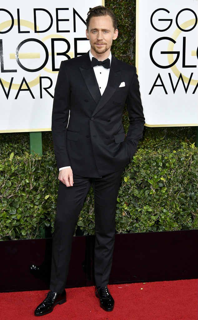 Tom Hiddleston at Golden Globes 2017