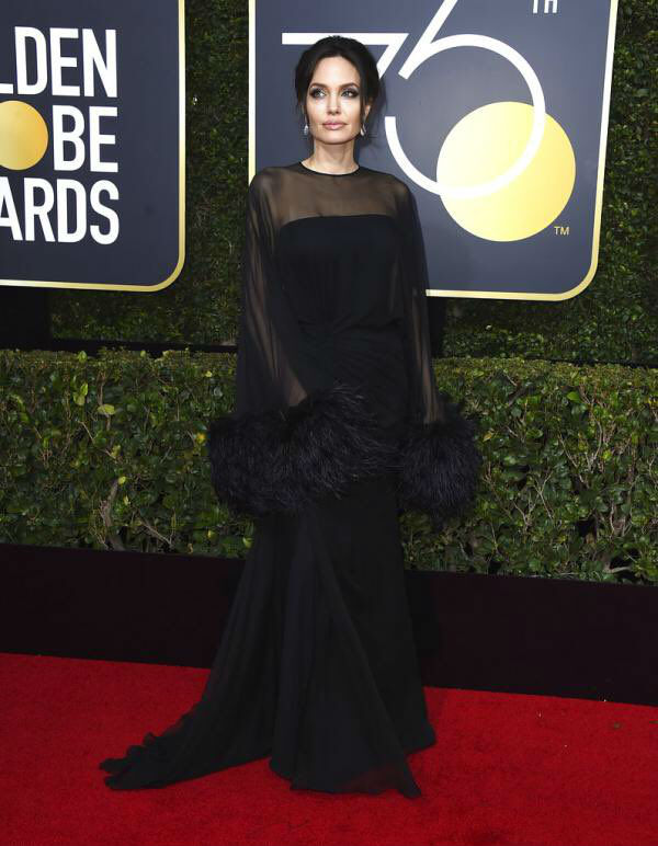 Angelina Jolie at Golden Globes 2018