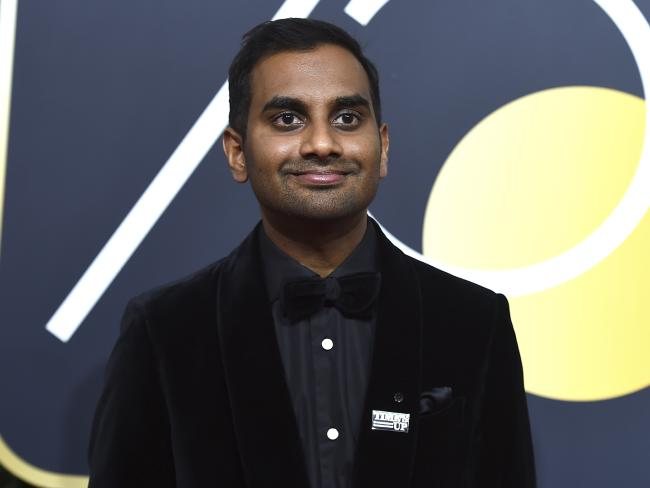 Aziz Ansari at Golden Globes 2018