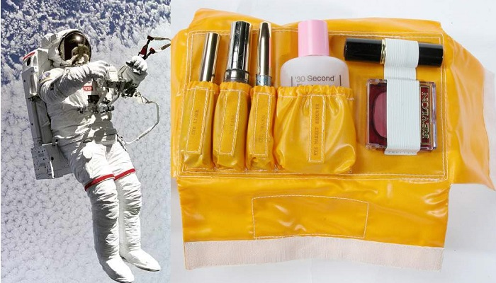 Male NASA engineers once designed make-up kits for female astronauts. To use in space