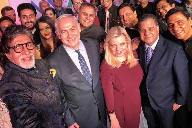 Israeli PM Benjamin Netanyahu meets Bollywood celebrities