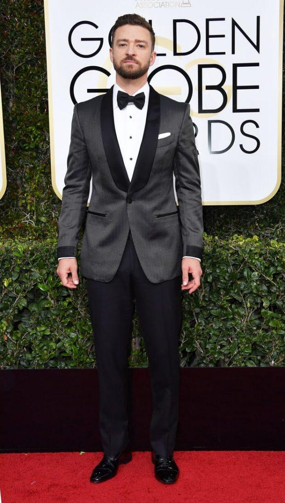 Justin Timberlake at Golden Globes 2017
