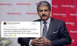 Anand Mahindra's witty tweet on Balayya's 'unrealistic stunt' angers his fans, #BoycottMahindra trends