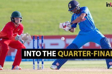 India beat Zimbabwe, India Under-19 vs ZImbabwe Under-19, Prithvi Shaw, Anukul Roy, Harvik Desai, Shubham Gill, Under-19 World Cup quarter-finals