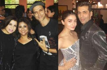 Bollywood celebs party at Shah Rukh Khan's residence
