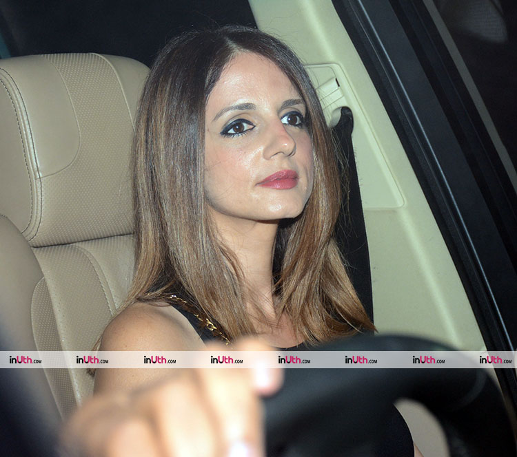 Sussanne Khan at Karan Johar's Valentine's party