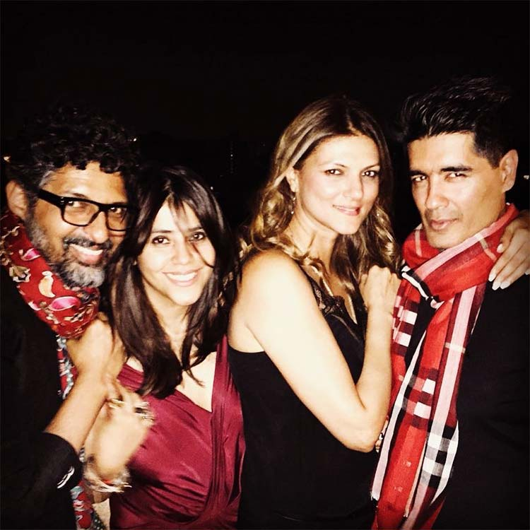 Ekta Kapoor with her friends at Karan Johar's Valentine's Day party