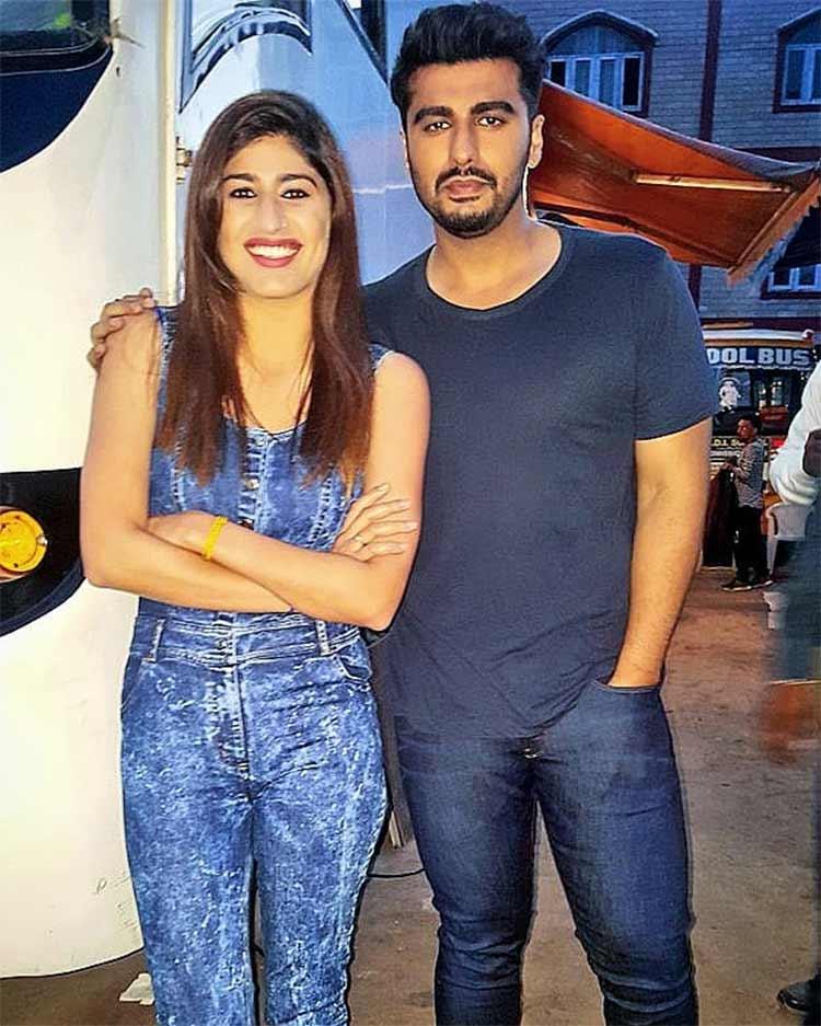 Arjun Kapoor with Shreya Mehta on the sets of Namastey England