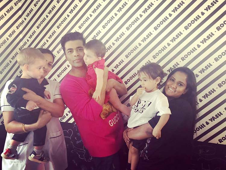 Arpita Khan with son Ahil at Yash and Roohi's birthday party