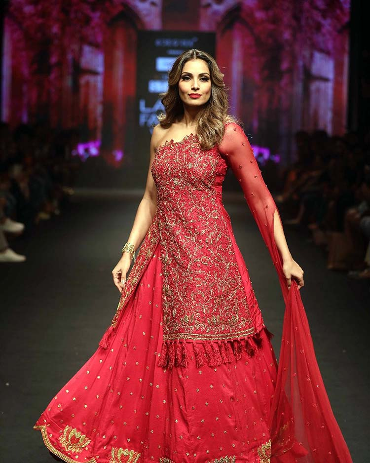 Bipasha Basu on the Lakme Fashion Week Summer Resort 2018 ramp