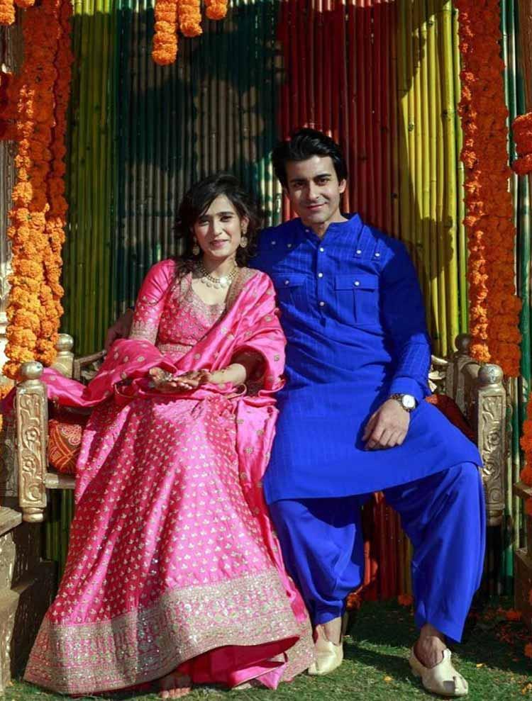 Gautam Rode and Pankhuri Awasthy at their mehendi ceremony