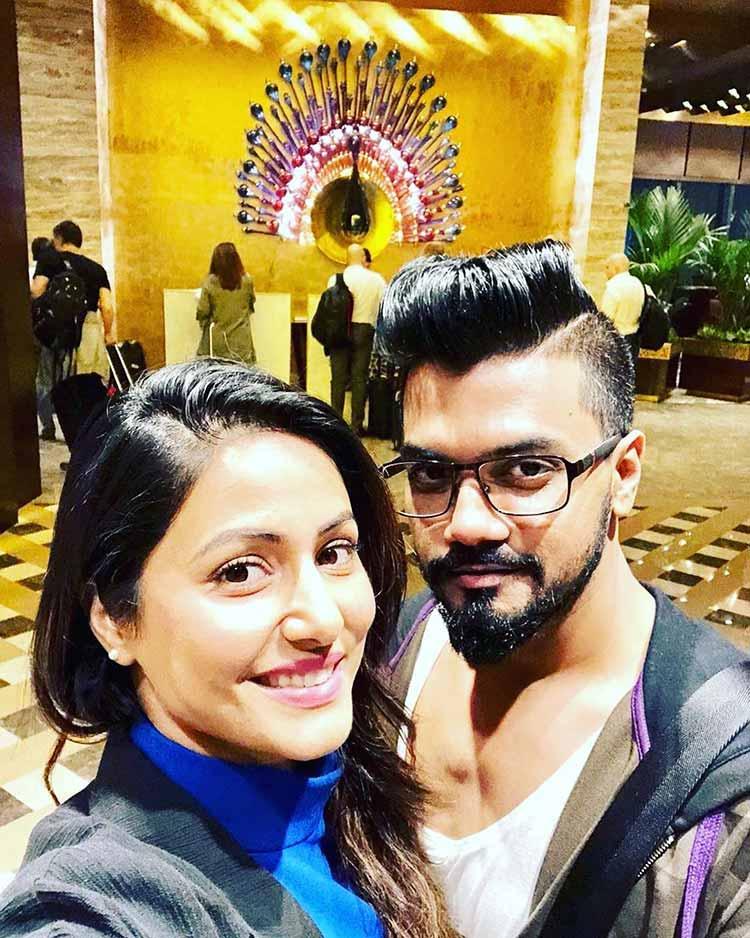 Hina Khan celebrating Valentine's day with Rocky Jaiswal in Sri Lanka