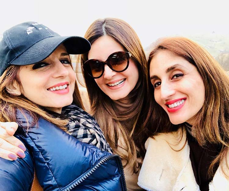 Sussanne Khan vacationing in Switzerland with her sisters