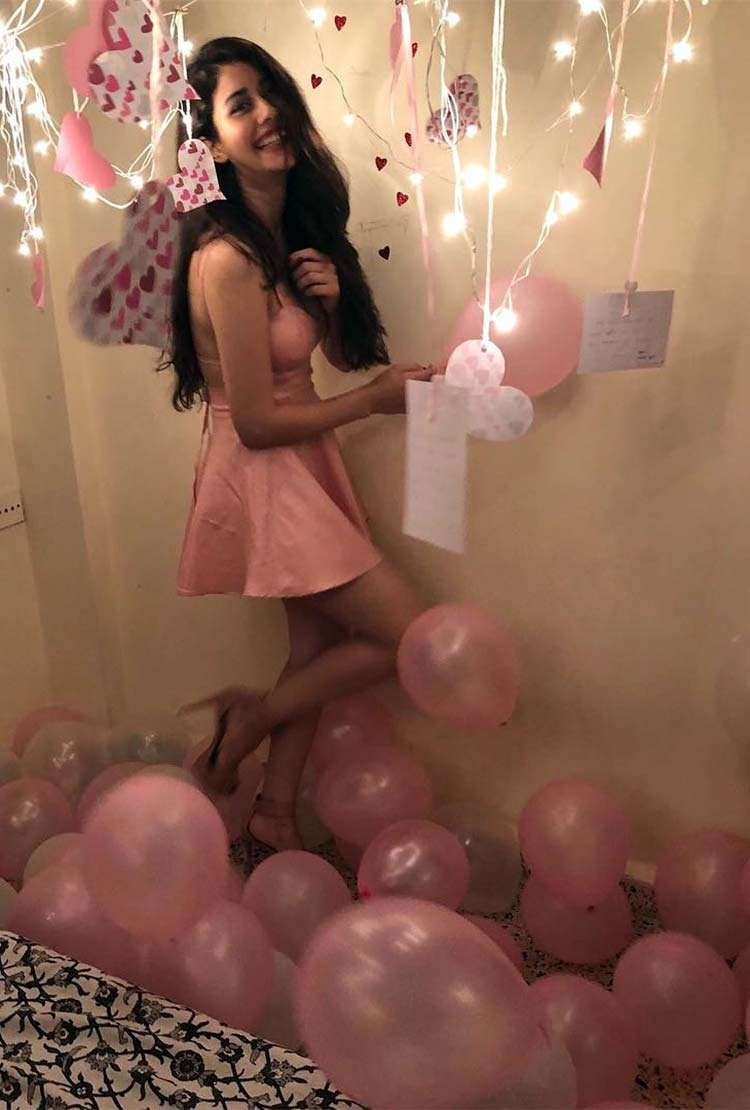 Warina Hussain celebrating her birthday in pink