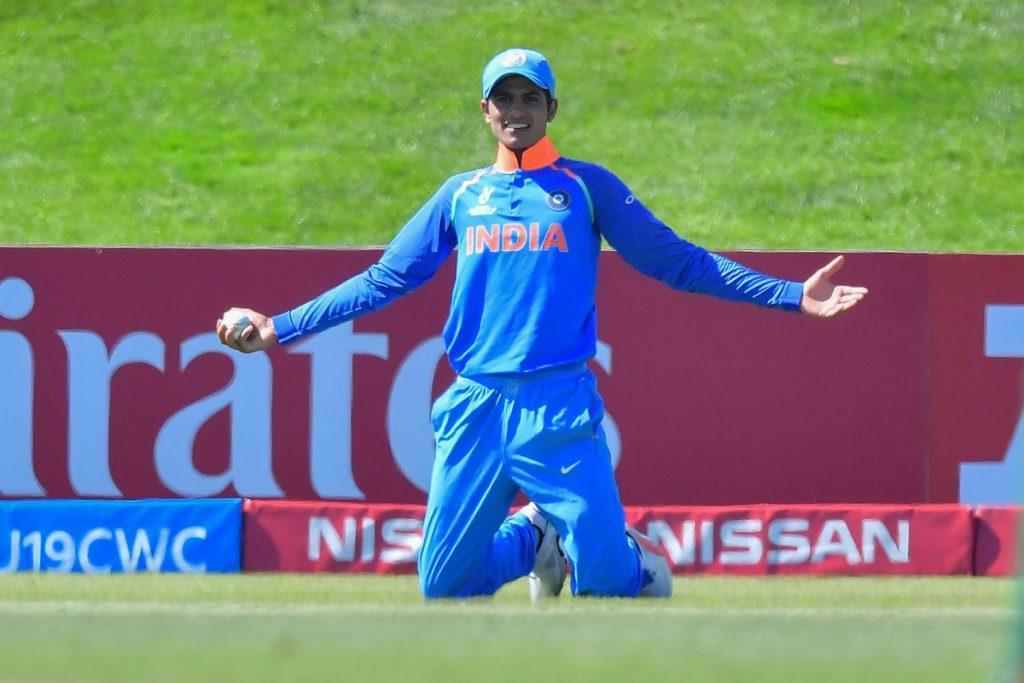 Shubhman Gill against Pakistan in U19 WC 2018 semi-final
