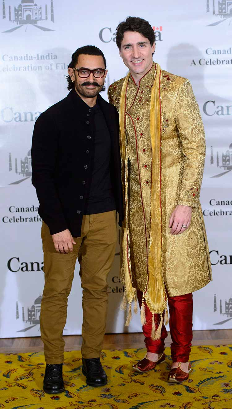 Aamir Khan with Canadian Prime Minister Justin Trudeau