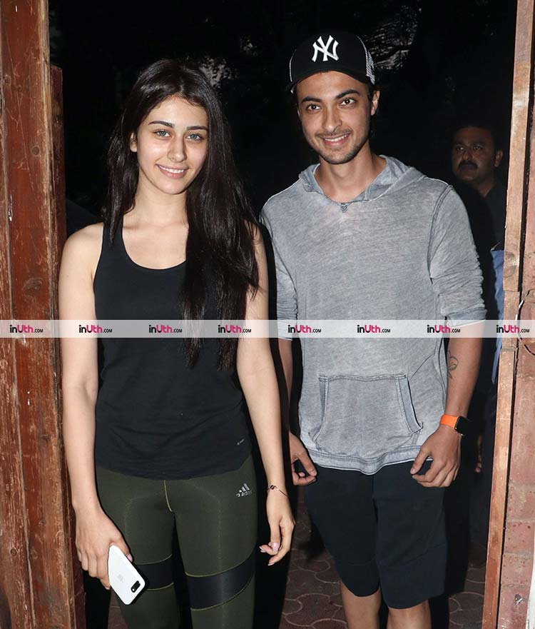 Aayush Sharma and Warina Hussain snapped together in Mumbai